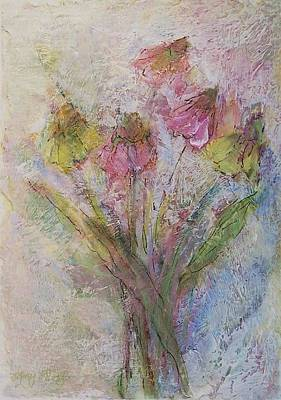 Art Print featuring the painting Wildflowers 2 by Mary Wolf