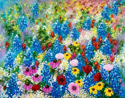 Wildflowers A La Monet Original