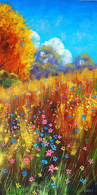 Wildflowers Painting - Wildflowers by Graham Gercken