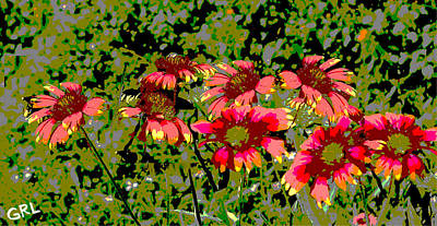 Painting - Wildflowers IIi Florida Contemporayary Digital Art by G Linsenmayer