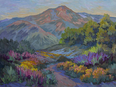 Garden Mountain Painting - Wildflowers In Full Bloom by Diane McClary