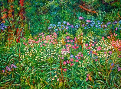 Art Print featuring the painting Wildflowers Near Fancy Gap by Kendall Kessler