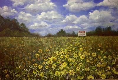 Flower Painting - Wildflowers Of Caddo by Linda Dunbar