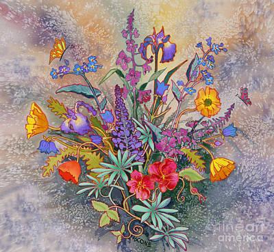 Fireweed Painting - Wildflowers Of Alaska II by Teresa Ascone