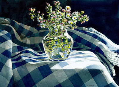 Dramatic Lighting Painting - Wildflowers by Tom Hedderich