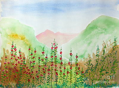 Painting - Wildflowers by Walt Brodis