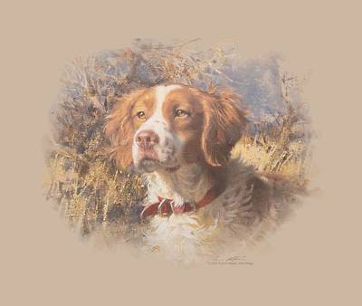 Retriever Digital Art - Wildlife - Brittany Head II by Brand A