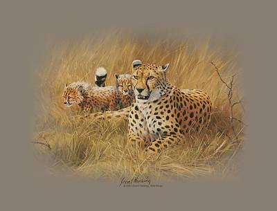 Cheetah Digital Art - Wildlife - Cheetah Family by Brand A