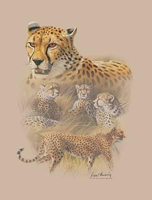 Cheetah Digital Art - Wildlife - Cheetahs by Brand A