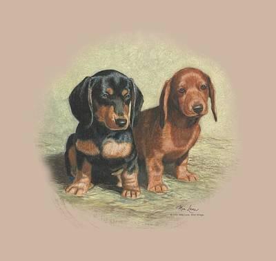 Puppies Digital Art - Wildlife - Dachshund Pups by Brand A
