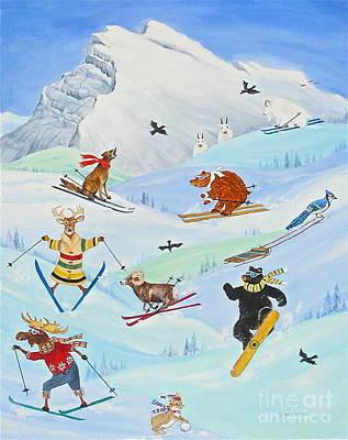 Banff Artist Painting - Wildlife Freestyle by Virginia Ann Hemingson