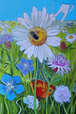 Painting - Wildlife Garden by Mike Jory