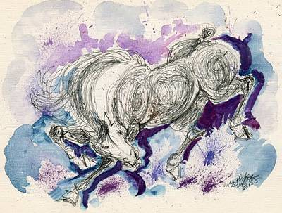 Action Lines Mixed Media - Wildline  by Mary Armstrong