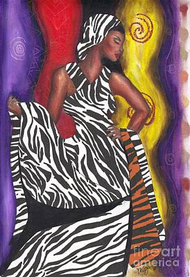 Art Print featuring the mixed media Wildly Sophisticated by Alga Washington