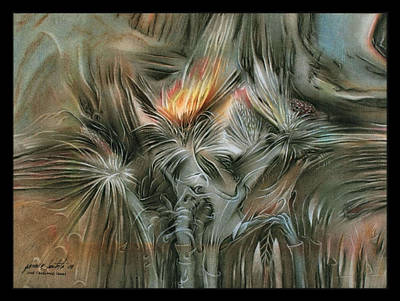 Pastel - Wildplantscapeb 2009 by Glenn Bautista