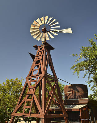 Photograph - Wildseed Farms Windmill by Allen Sheffield