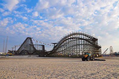Rollercoaster Photograph - Wildwood Beach Boardwalk Rides by Bill Cannon