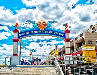 Photograph - Wildwood Boardwalk Entrance by Nick Zelinsky