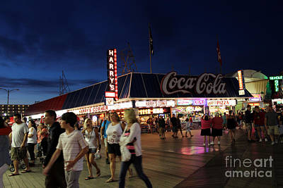 Photograph - Wildwood Midway At Night by Susan Stevenson