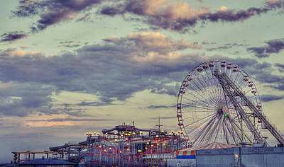 Roller Coaster Digital Art - Wildwood New Jersey by Kenny  Noddin