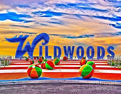 Photograph - Wildwoods Sign by Nick Zelinsky
