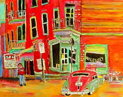 Wilensky Snack Bar Painting - Wilensky Circa 1964 by Michael Litvack