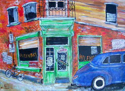 Old Jewish Area Painting - Wilensky by Michael Litvack