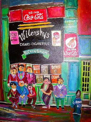 Snack Bar Painting - Wilensky's 1945 by Michael Litvack