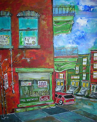 Old Jewish Area Painting - Wilensky's Corner by Michael Litvack