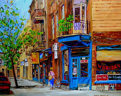 Montreal Street Life Painting - Wilensky's Diner And Snack Bar by Carole Spandau
