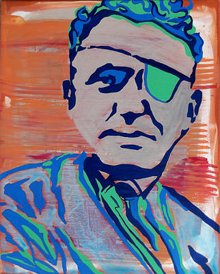 Famous Aviators Painting - Wiley Post by Jill Wells