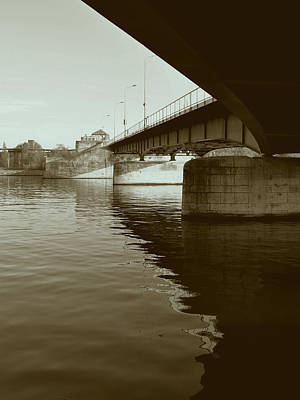 Bridge Photograph - Wilhelmina Bridge In Maastricht by Nop Briex