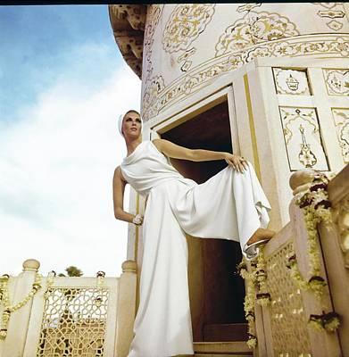 Photograph - Wilhelmina Wearing White Pajamas by Henry Clarke