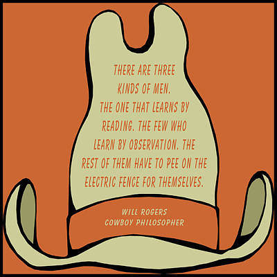 Digital Art - Will Rogers Cowboy Hat by Barbara Snyder