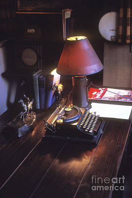 Photograph - Will Rogers Desk by Paul W Faust -  Impressions of Light