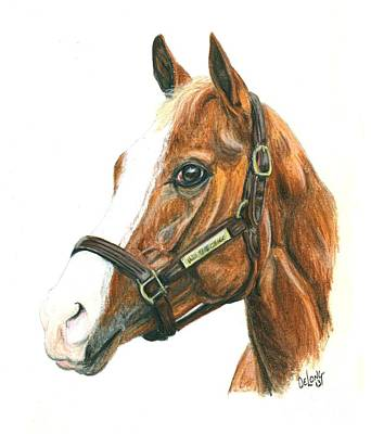 Horse Racing Painting - Will Take Charge by Pat DeLong