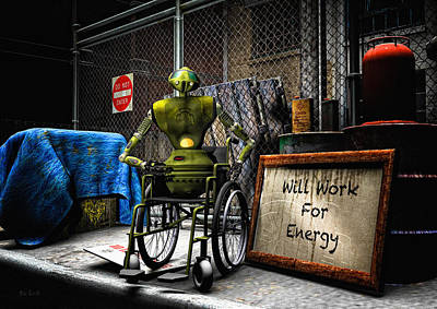 Syfy Digital Art - Will Work For Energy by Bob Orsillo