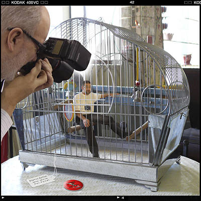 Cage Photograph - Will Work For Food by Mike McGlothlen