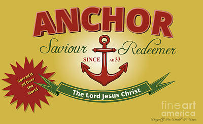 Saviour Digital Art - Will Your Anchor Hold by Donald Davis
