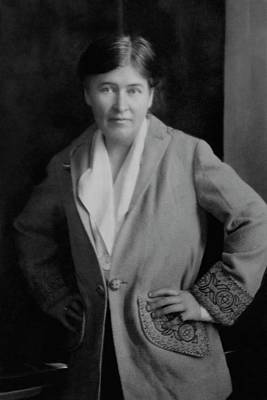 Hand Embroidery Photograph - Willa Cather Wearing A Jacket by E. O. Hoppe