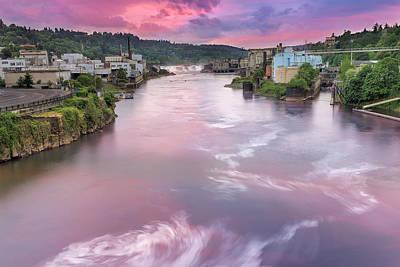 Willamette Falls During Sunset Art Print by David Gn