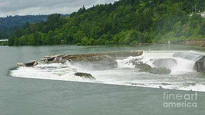 Photograph - Willamette Falls In Oregon by Susan Garren