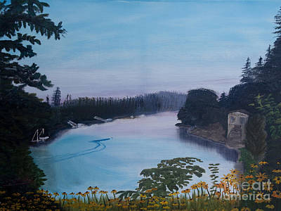 Painting - Willamette River Oregon by Ian Donley