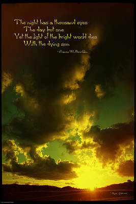 Photograph - Willamette Valley Sunset And Quote by Mick Anderson
