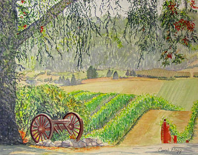 Willamette Valley Winery Art Print