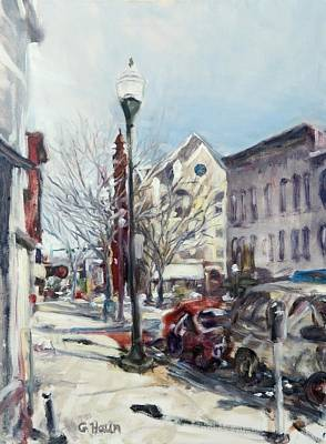 Willamsport Streetscape Winter Art Print
