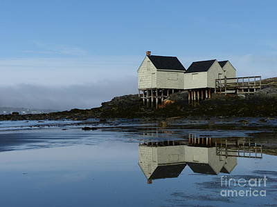Photograph - Willard Beach Shacks Reflection by Christine Stack