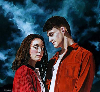 Painting - She Loves Me, She Loves Me Not by Jo King