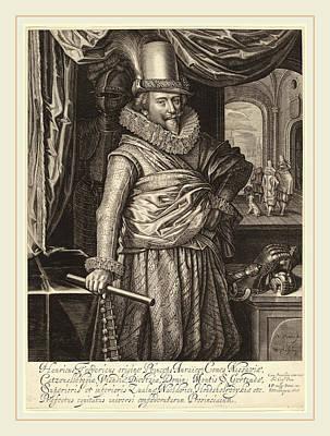 Willem Jacobsz Delff Dutch, 1580-1638, Frederik Hendrik Art Print by Litz Collection