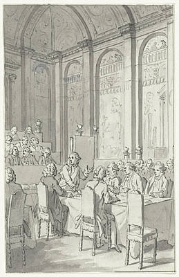 Work On Paper Drawing - Willem V Shows The Papers Of Laurens, 1780 by Quint Lox